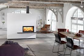 double sided wood burning fireplace binhminh decoration