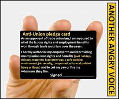 pledge cards template anti union pledge card unison ljmu