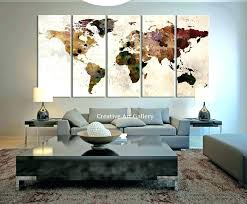World Map Wall Decor Hot Sale Letter World Map Quote