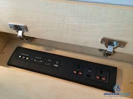 28 desk with outlets in desk power outlets pop up desktop