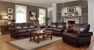 download decor ideas for living room with brown leather furniture