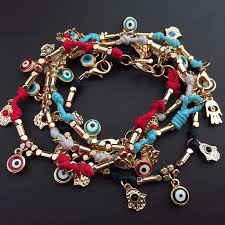 handmade charm bracelet images Evil eye charm bracelet handmade braided turkey blue eye hamsa jpg
