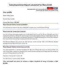 cover letter salary expectations