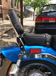 installing a passenger back rest sissy bar with a luggage rack for