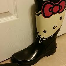 womens rubber boots size 9 83 sanrio boots hello boots size 9 womens from