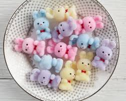 fuzzy easter miniature flocked plastic bunnies 12 easter bunny craft