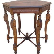 Antique Accent Table Antique Walnut L Table Side Table Octagon Accent Table