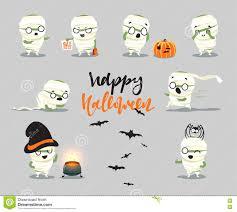 happy halloween cute pictures happy halloween set cute cartoon character costumes zombie