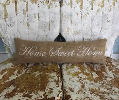 home sweet home long narrow bench pillow burlap pillow