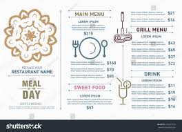 restaurant menu design hipster style free stock vector 267207524