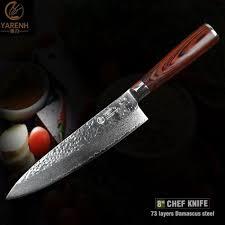 meilleur couteau de cuisine yarenh 8 meilleur couteau de chef damas avec des couteaux de