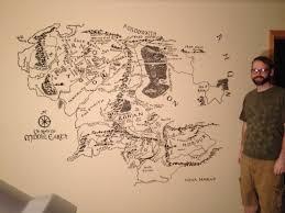 a map of middle earth map of middle earth mural album on imgur