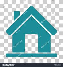 Soft Blue Color Home Icon Vector Illustration Style Flat Stock Vector 579645835