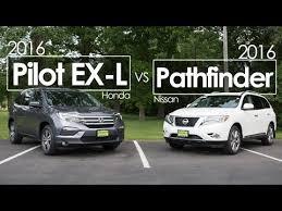 honda pilot size comparison 2016 nissan pathfinder vs honda pilot ex l comparison review
