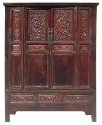 Armoire Solid Wood Chinese Antique Solid Wood Hand Carving Armoire Cabinet Asian