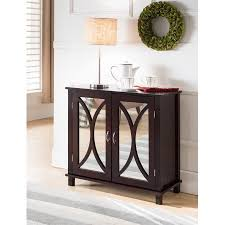 Accent Console Table Espresso Wood Contemporary Accent Entryway Display Console Table