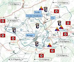 Map Of Belgium And Germany Map Battle Of The Bulge Battle Of The Bulge December 16 26