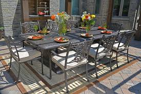 Cast Aluminum Patio Furniture Serena Luxury 8 Person All Welded Cast Aluminum Patio Furniture