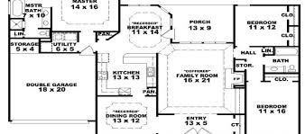 porch single story farmhouse house plans one story country home