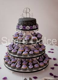 purple and black wedding cupcake tower this is what i want