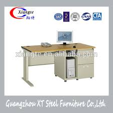single 3 drawer computer desk metal and wood teacher office table