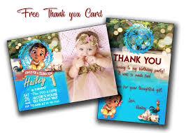 baby moana invitation baby moana birthday card with