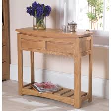 Solid Oak Furniture Crescent Solid Oak Furniture Console Table