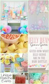 unique baby shower theme ideas sugary sweet pastels jelly beans baby shower ideas unique