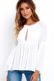 baby doll blouses ivory top sleeve top babydoll top white top 37 00
