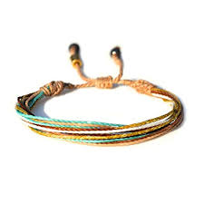 bracelet string images Surfer string bracelet with hematite stones in tan jpg