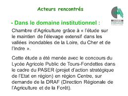 chambre d agriculture tours présentation de notre territoire d étude thème 1 quelle