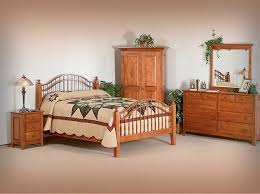 amish solid wood shaker style windsor bed