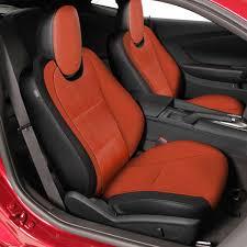 2013 camaro seat covers camaro leather seat kit inferno orange shopchevyparts com