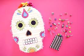 diy sugar skull piñata evite