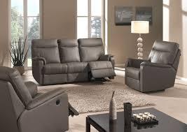 meuble canapé salon en cuir moderne ou rustique en exposition permanent chez