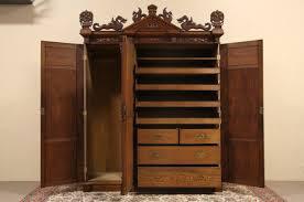 3 Door Closet Sold Oak 1880 Antique Armoire Or 3 Door Closet Carved Dragons
