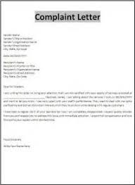 ideas of sample formal complaint letters against a person with