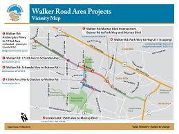 Hillsboro Oregon Map by Walker Road 173rd To Schendel