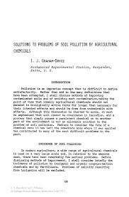 solutions to problems of soil pollution by agricultural chemicals