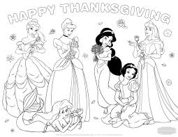 Thanksgiving Coloring Pages Princess Stencil Free Coloring Sheets