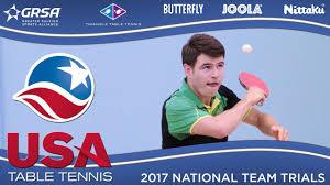 Us Table Tennis Team 2017 Us National Team Trials Day 3 Seth Pech Vs Sharon Alguetti