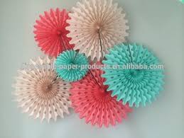 tissue paper fans tissue paper hanging decorations tissue paper fans 5 pom wheels