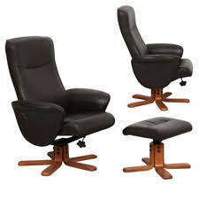 Leather Swivel Armchairs Leather Swivel Chair Armchairs Ebay