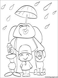 main characters pocoyo coloring coloring pages