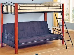 Wooden Bunk Beds With Mattresses Bedroom Grey Fabric Pull Out Bunk Beds With White Mattress