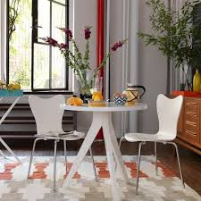 Eames Bistro Table Tripod Table Tripod Sitting Area And Piano Room
