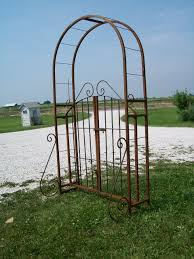 wrought iron garden arch gate combination arbor trellis