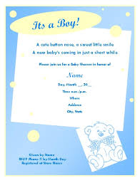 baby shower invitation cards for boys cute ba shower invitation