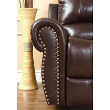 abbyson living hogan leather reclining 2 piece sofa set ch 8811