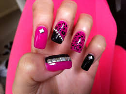 acrylic nails with gel polish studs and leopard print youtube